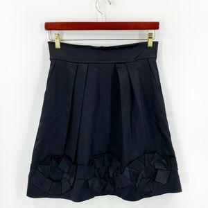 Cynthia Steffe A Line Skirt Sz 10 Black Ruffle Hem